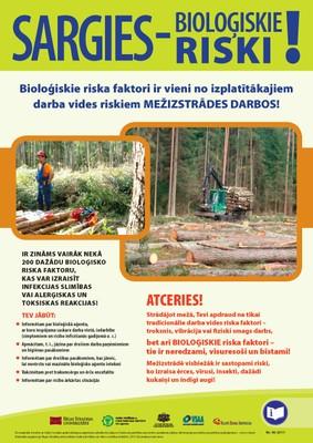 Plakats mezizstrade biologiskie riski